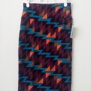 LuLaRoe Cassie Skirt Triangle Zig Zag Geo Stretch